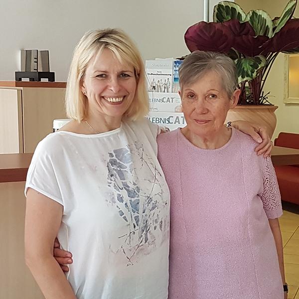 Frau Erdmann mit Sylvia Kasch